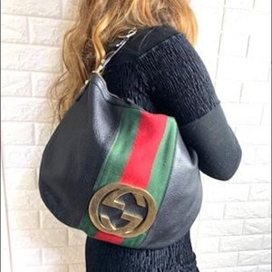 ✨RARE✨ leather gucci with matching wallet